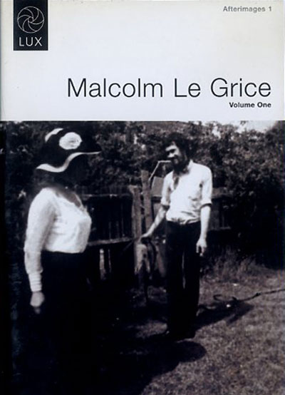 Buy Afterimages 1: Malcolm Le Grice Volume One