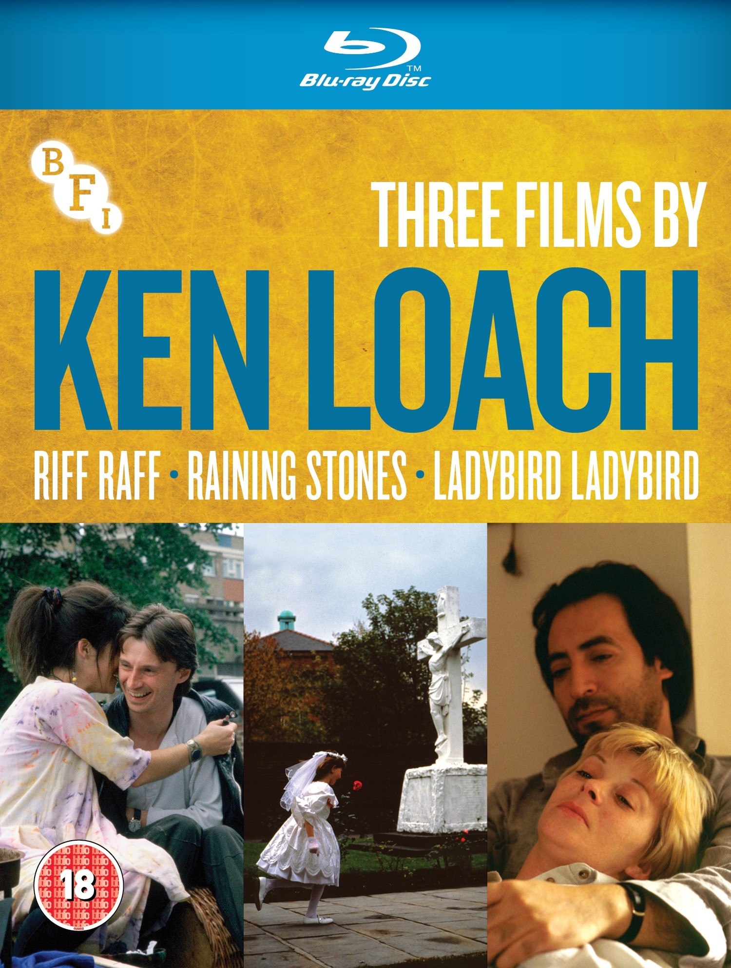 Buy Three films by Ken Loach: Riff Raff, Raining Stones, Ladybird Ladybird (BLU-RAY)