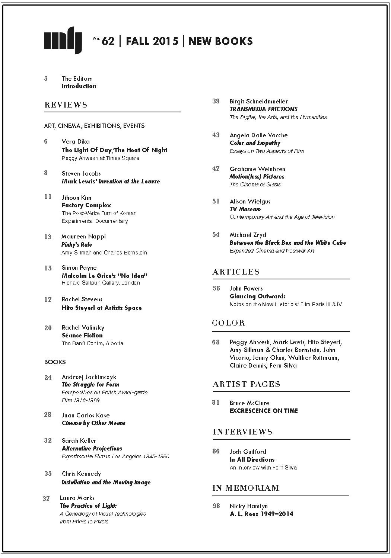 Buy Millennium Film Journal #62