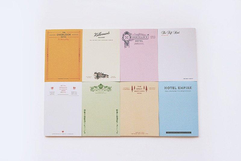 Buy Fictional hotel notepads (set)